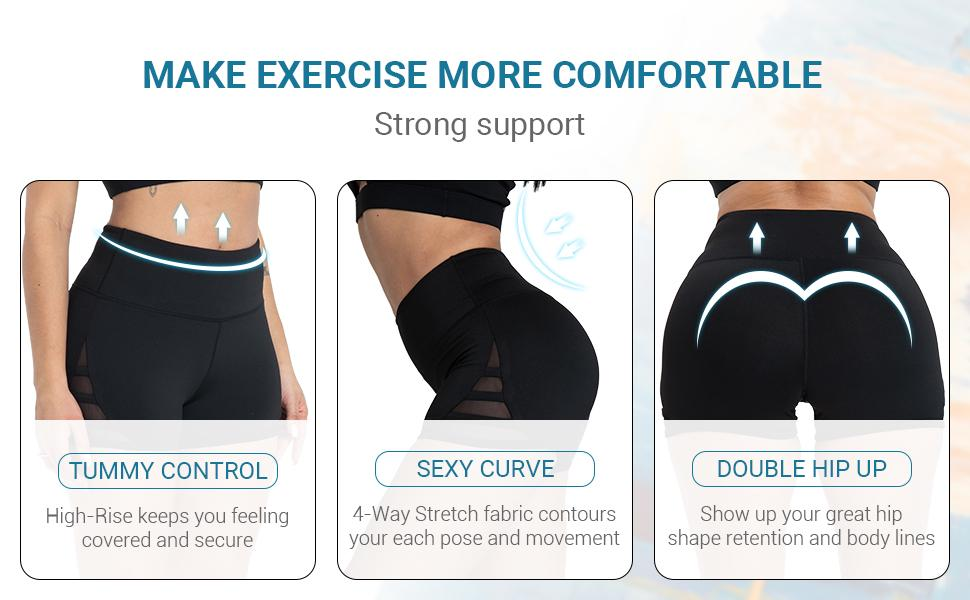 comfortable workout shorts for women