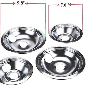Chrome Burner Drip Pan Bowls Replacement