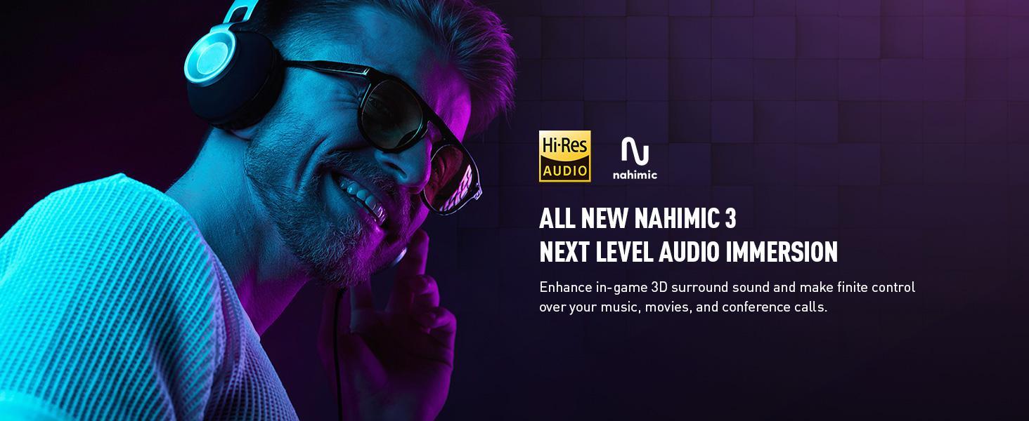 Nahmic Audio 3 immersion 3D surround sound