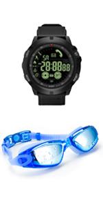 Blue Swim Goggle amp; Watch