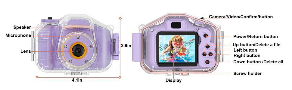 Kids Camera Underwater Waterproof Camera