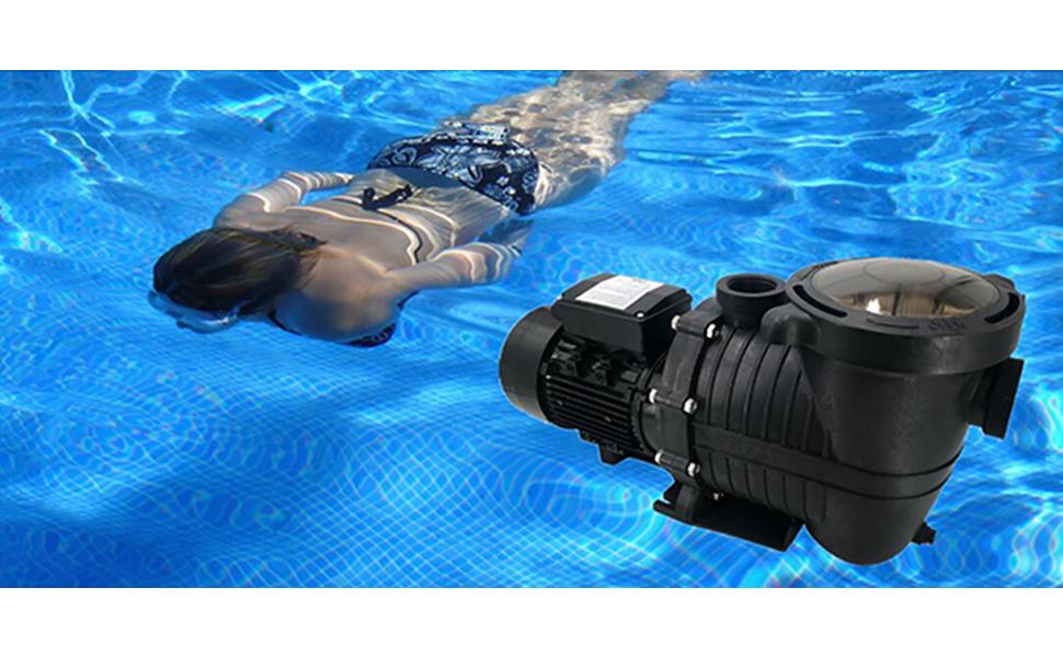 2HP 110-240V 6500GPH In/Above ground Swimming POOL PUMP MOTOR w/Strainer Hayward