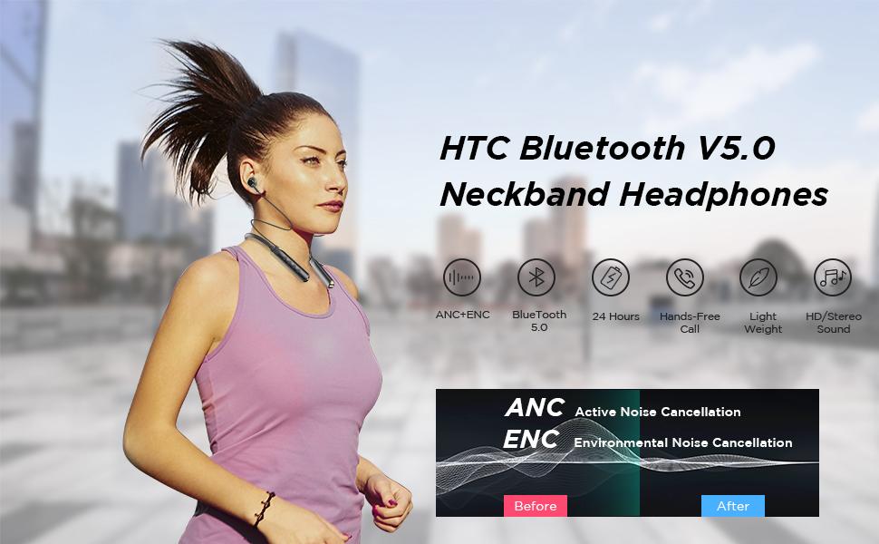 bluetooth headphones neckband