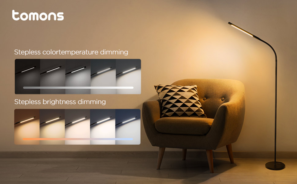 tomons dimmable stehlampe