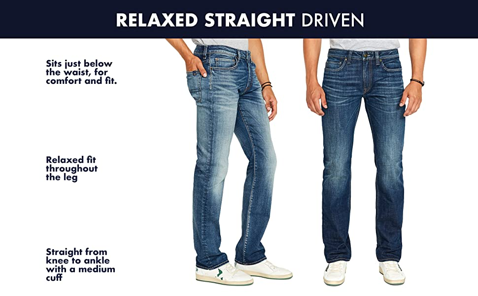 Relaxed Straight DRIVEN Jeans by Buffalo David Bitton