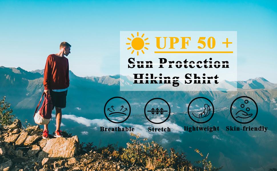 Men's UPF 50+ UV Sun Protection shirt