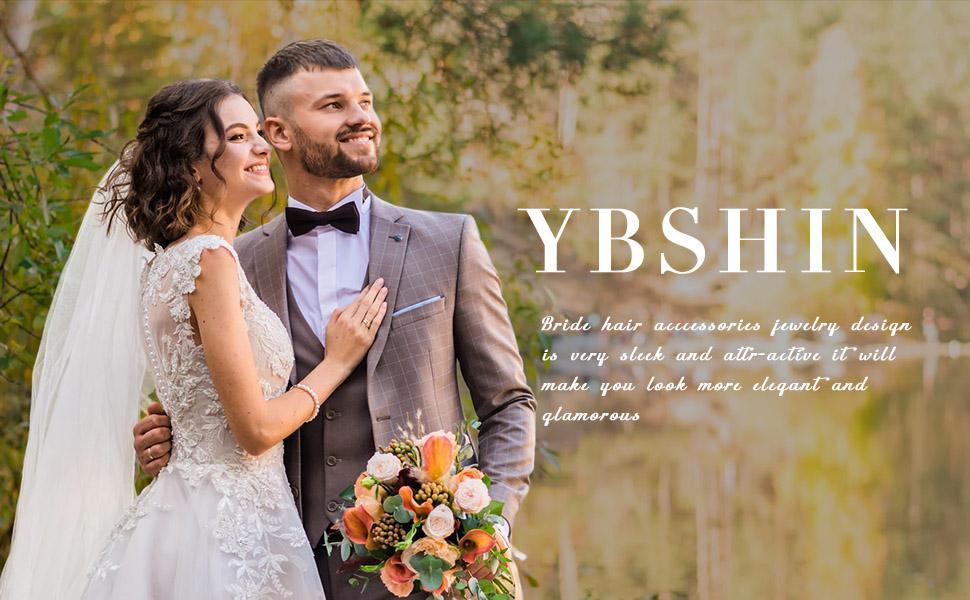 YBSHIN Bride Wedding Hair Combs Silver