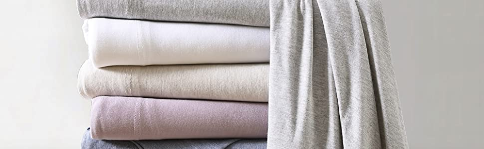 Modal Jersey Sheets Stack Image