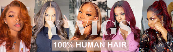 Y wigs human hair lace front wig