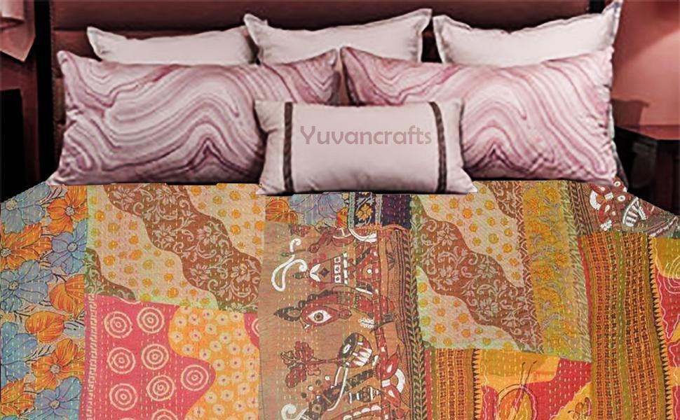 Indian Vintage Patchwork Twin Cotton Kantha