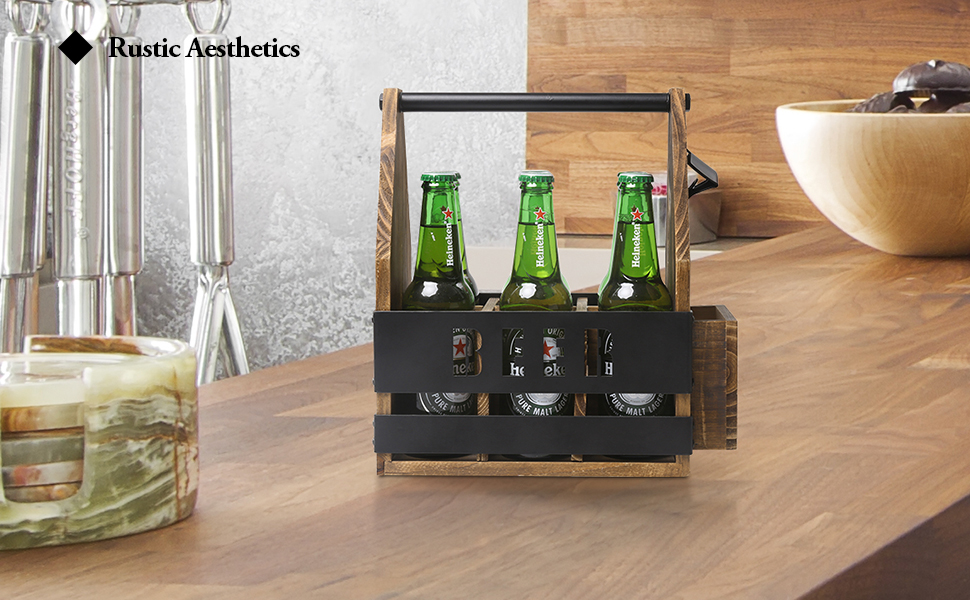 beer caddy with bottle opener holder gifts for drinkers