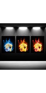 poker posters framed poker canvas artwork for wall poker paintings for walls Poker Hands