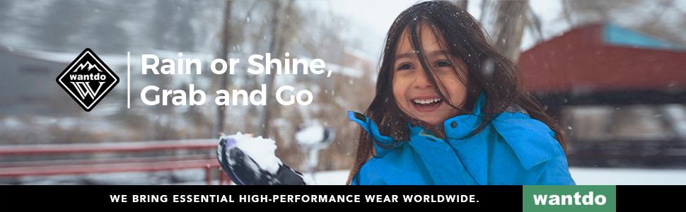 Wantdo Boy's 3 in 1 Waterproof Ski Jacket