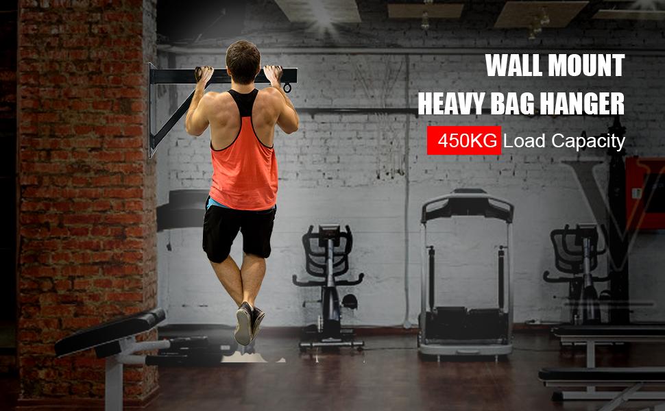 wall mounted heavy bag hanger