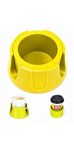 Anti-Spill Cup Holder YELLOW