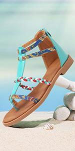 gracosy Women's Flat Sandals