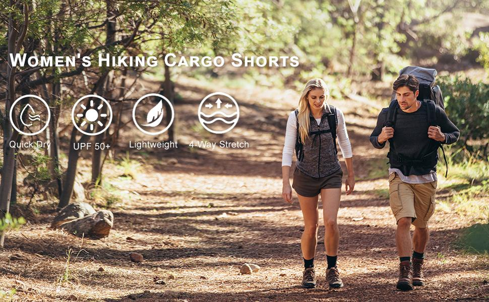 women's hiking cargo shorts