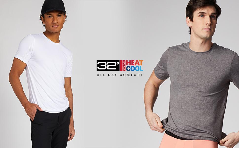 32 Degrees Mens Cool Crew Neck T-Shirt