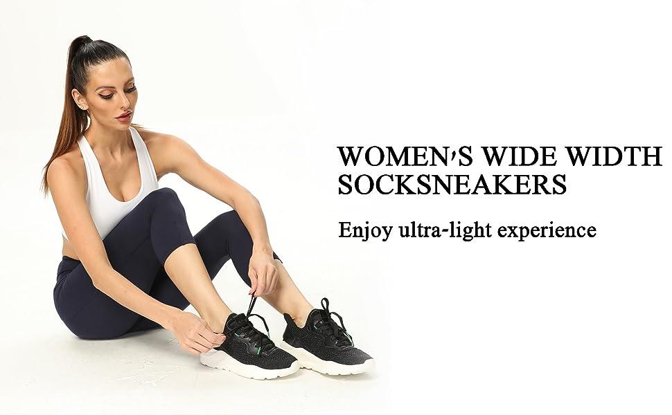 0004 Womens wide width sneakers