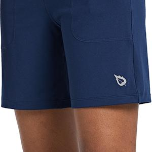 relaxed fit leg athletic shorts