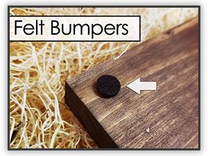 Custom Wood Sign Farmhouse Decor Protective Felt Bumpers