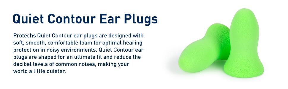 quiet contour foam ear plugs description