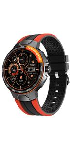 orange smart watch