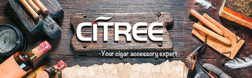cigar Humidor, travel cigar case, cedar wood travel portable leather cigar humidor with humidifier