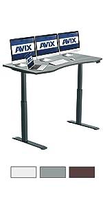 60x30 AVIX Electric height adjustment Standing desk gray