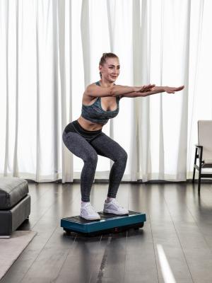 TOUREDBE Full Body Crazy Fitness Massage Vibration Plate Exercise Machine