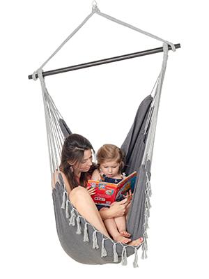 grey hanging chair