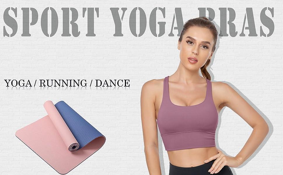 Longline Sports Bra For Women Strappy Yoga Tank Top.