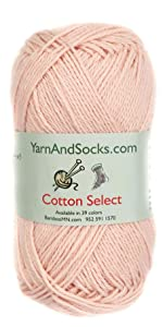 blue cotton yarn skein