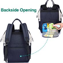 BabbleRoo diaper bag backpack with backside pocket