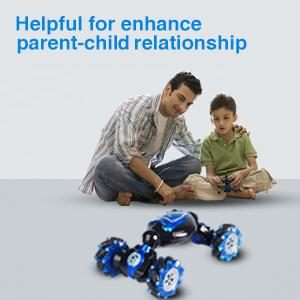 The rc race car is helpful for enhance parent-child relationship.