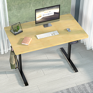 desk standing adjustable height sit to stand up electric home office computer black table ergonomic