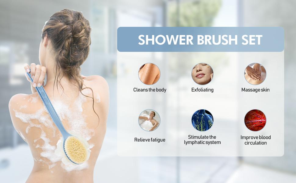 shower body brush function