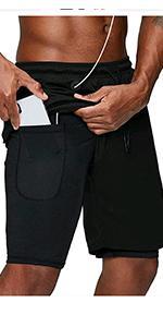 men sport shorts 2 in 1