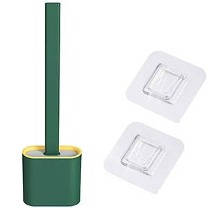 Bathroom Silicone Bristles Toilet Brush with Holder
