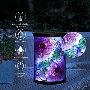 glass solar lantern
