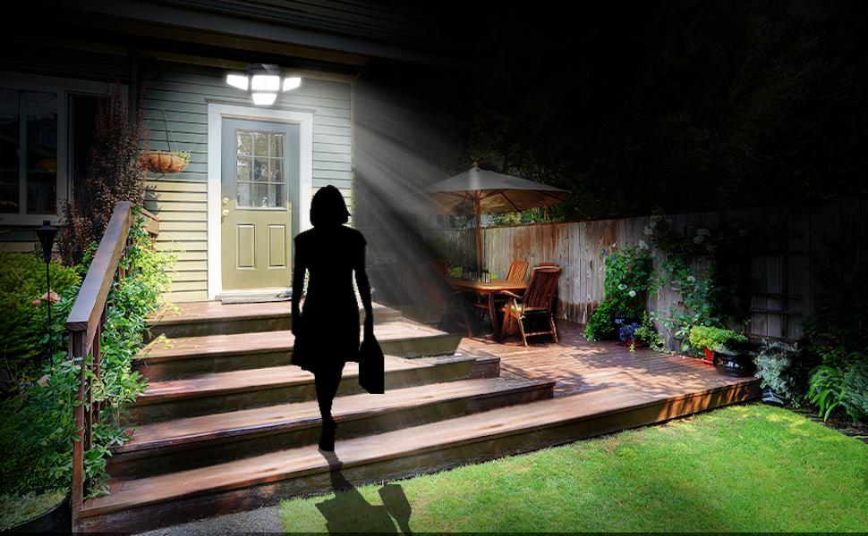 solar security lights outdoor motion sensor