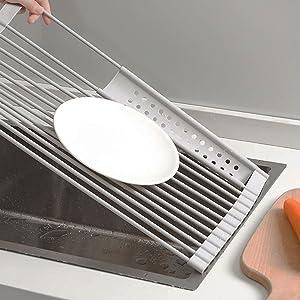 roll up dish drying rack sink dish drying rack roll up dish rack sink drying rack over the sink