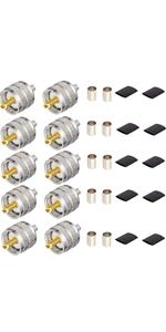 UHF Crimp Connectors 10PCS
