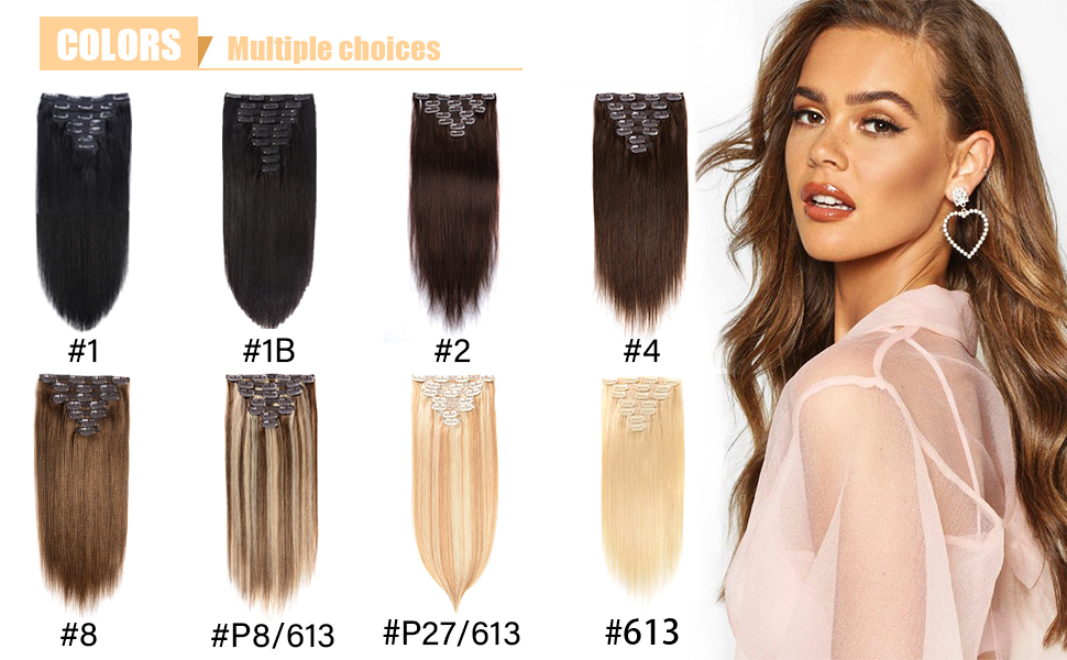 more choice about clip in hair extensions
