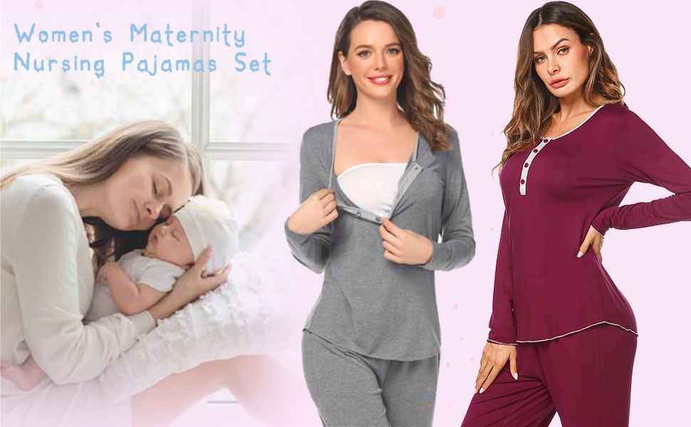 Soft, comfortable and convenient, it is a must-have pajama for mothers-to-be