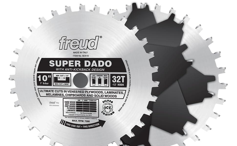 """Freud  10"""" x 32T Super Dado Sets (SD510)"""