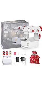Mini Sewing Machine with DIY Bag Material