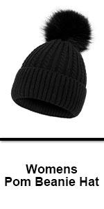 pompom ears hat womens fleece beenie beanie hat for women with pom