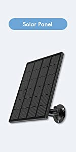 Solar Panel Compatible with  Zumimall Outdoor Wireless Camera