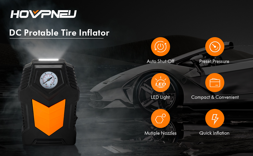 DC Protable Tire Inflator